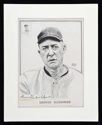 Alexander Demarco Robert Edward Auctions Grover Alexander 1950 1956 Callahan Hall Of