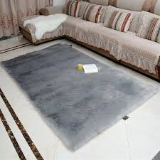 faux fur rug grey soft fluffy gy rugs sheepskin floor carpet for bedrooms living room kids white fluffy rug off grey charming small