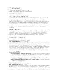 Sample Public Relations Resume Pr Resume Example Marketing Public