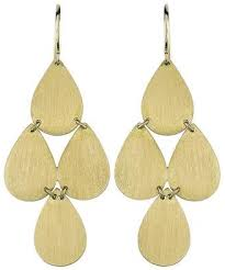 irene neuwirth signature small teardrop chandelier earrings yellow gold