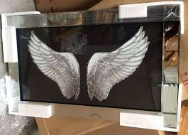 angel wing picture frame angel wings on mirrored frame silver angel wings photo frame silver angel