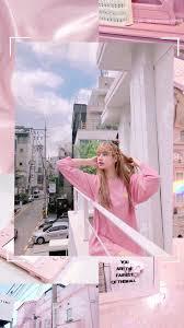 Lisa wallpaper aesthetic pink