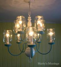 mason jar chandelier ceiling light kit 3 mason jar