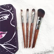 mufe on go brush set 4 travel artisan brushes150 216 228 172 quality items with pouch box packaging beauty makeup brushes blender lip brush professional