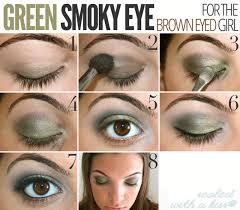 tutorial bmodish eyes spring makeup green smoky eyes