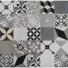Black And White Pattern Tile Extraordinary Moroccan Encaustic Cement Pattern Random Mix Black White And Grey