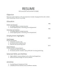 Free Resume Tips And Examples Jobs Resume Format Sample Job Resume