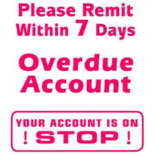 Overdue Account X Stamper 3 In 1 Word Stamp Overdue Account Please Remit Your