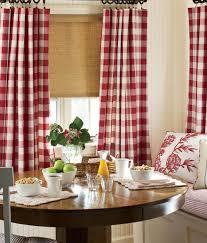 Red Plaid Kitchen Curtains Red Plaid Kitchen Curtains Cabin Curtains And Plaid Rustic Window