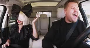 james corden sings chandelier has heart to heart with sia during carpool karaoke