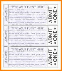 Event Ticket Template Word 12 Free Printable Ticket Template Reptile Shop Birmingham