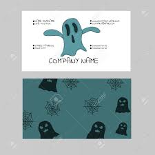 Halloween Business Cards Template Of A Business Card On A Theme Of A Halloween With The