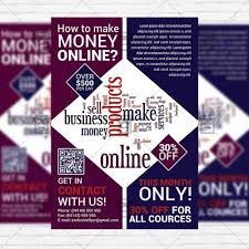 How To Make A Flyer Online Free Make Money Online Premium Flyer Template
