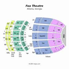 Fox Theater Atlanta Orchestra Seating Chart Www