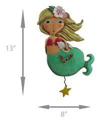 Allen Designs Allen Designs Shelley Mermaid Starfish Pendulum Wall Clock