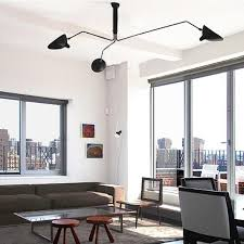 Online Cheap Fumat Serge Mouille Three Arm Ceiling Light Modern Minimalist  Creative Art Stainless Steel Ceiling Light Living Room Office Light By  Goodsoft ...