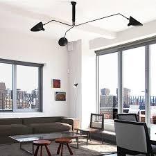2018 fumat serge mouille three arm ceiling light modern minimalist creative art stainless steel ceiling light living room office light from goodsoft