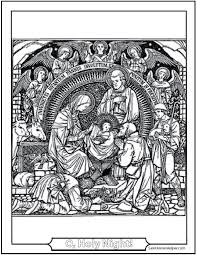 The star and the holy family. Nativity Coloring Page Beautiful Jesus Coloring Page