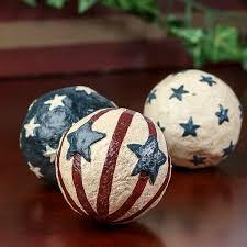Decorative Bowl Filler Balls Primitive Americana Balls Vase and Bowl Fillers Home Decor 42