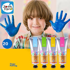 children finger painting paint drawing diy paint 20 colors learning educational baby kids toys art school