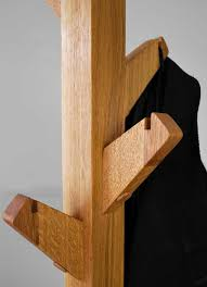 Oak Coat Rack Stand