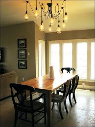 how high to hang chandelier over dining table full image for hanging