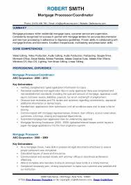 Modern Resume Formats For Vicep Residents Mortgage Processor Resume Samples Qwikresume