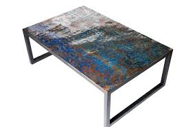 coffee table metal recycled oil drum coffee table berwyn round coffee table metal and wood threshold