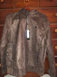 details about world collection vg men s suede tan brown jacket made in italy size xl nwt