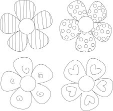 Spring Flower Template Improved Flower Patterns To Color Now For Kids Printable Coloring