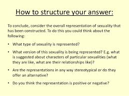 representation of sexuality essay task 4