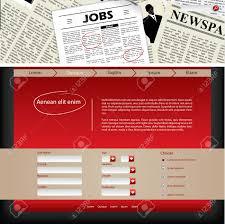 website template design job search newspaper header royalty vector website template design job search newspaper header