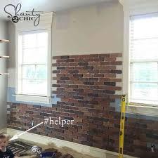 diy thin brick wall for faux brick wall exterior 2018