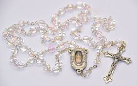 lourdes water crystal rosary beads lourdes catholic gifts
