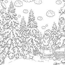 Kerstman Met Slee Kleurplaat Weihnachten Schneemann Malvorlagen