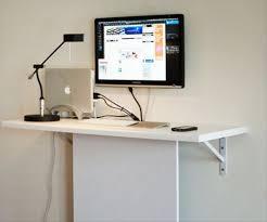 wall mounted computer desk design
