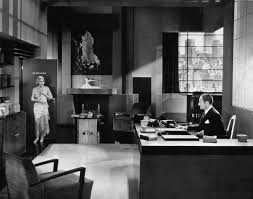 deco office. constance bennett and adolph menjou in an art deco office from the easiest way 1931 i