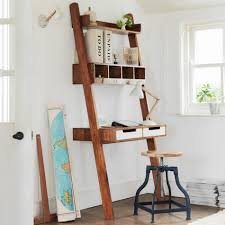 monarch specialties h white ladder bookcase drop down desk shelf