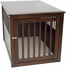 pet crate furniture. Crown Pet Products Crate Wood Dog Furniture End Table, Large Size With Espresso