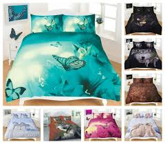 details about 3d duvet cover set animal design print quilt single double king super king size