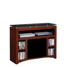 electric fireplace tv stand classicflame monteray oak rectangular fireplace tv stand at