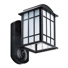 Maximus Coach Light Security Cameras Maximus Craftsman Smart Security Textured Black Metal And Glass Outdoor Wall Lantern