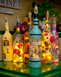 Decorative Wine Bottles With Lights Lady fingers 67