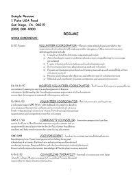 Volunteer Work On Resume Example Stunning Example Of Professional Social Work Resume Worker Examples Resumes