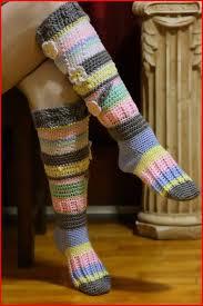 Crochet Knee High Socks Free Pattern
