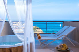 Outdoor Jacuzzi Accommodation Heraklion Agia Pelagia Crete Blue Bay Resort Hotel
