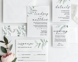 Wedding Invitation Printable Etsy