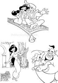Coloriage Aladdin Et Jasmine Gratuit