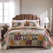Amazon.com: Greenland Home Antique Chic Authentic Patchwork Cotton Quilt  Set, Multicolor, 3-Piece King/Cal King: Home & Kitchen