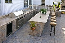 stone patio bar. EP Henry Outdoor Kitchen Featuring Coventry Stone I, Double Sided Walls, Dakota Blend · PatiosOutdoor BarsOutdoor Patio Bar D